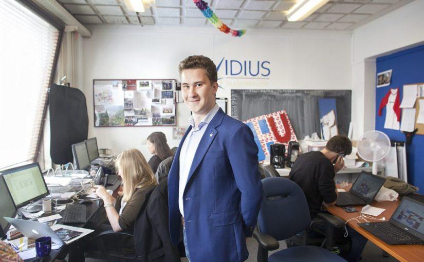 Vidius-voorzitter Martijn Grul (23) heeft al honderd dingen gedaan